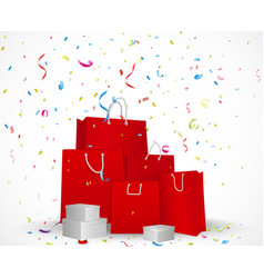 Sale celebration background concept vector image vector image
