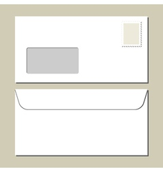 White mailing envelope vector image vector image