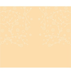 Abstract floral line background vector image vector image
