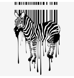 abstract zebra silhouette vector image vector image