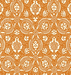 Gold lace Seamless abstract floral pattern vector image vector image