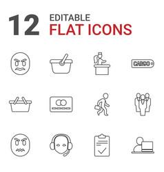 12 customer icons vector