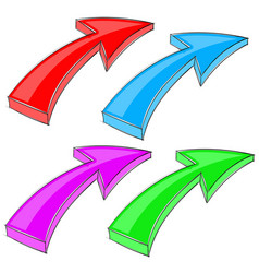 arrows up diagonal colored signs vector image