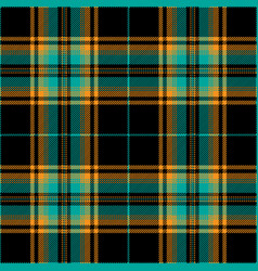 Blue adn orange tartan plaid scottish pattern vector