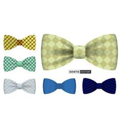 bow tie men suit for office uniform realistic vector image