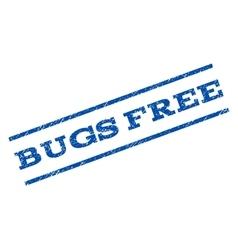 Bugs Free Watermark Stamp vector image
