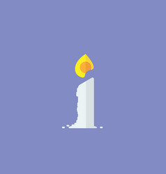 candle with flame simple designcandle icon vector image