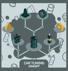 car tuning color concept isometric icons vector image
