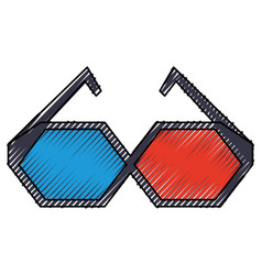 cinema 3d glasses vector image