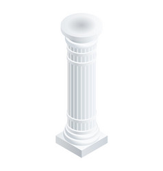 Column pillar icon isometric style vector