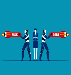 company technology protects from crisis concept vector image