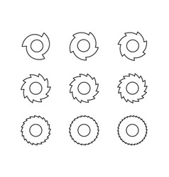 cutting gear for saw blade set graphic vector image