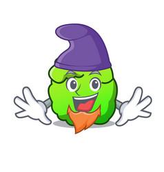 elf shrub character cartoon style vector image