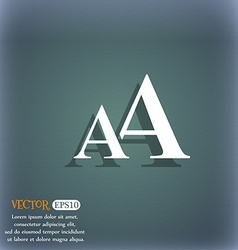 Enlarge font AA icon sign On the blue-green vector