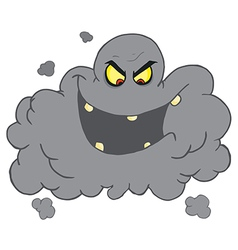 Evil Ash Cloud Laughing vector image