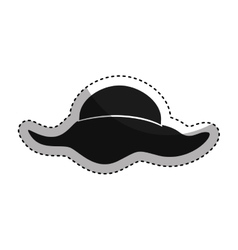 Female hat isolated icon vector