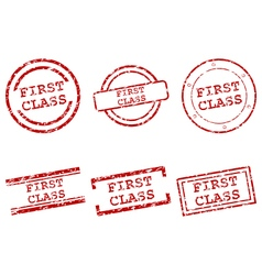 First class stamps vector