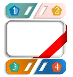 frame with numbers vector image