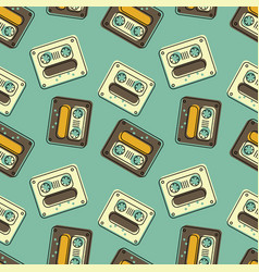 Funky tape mix seamless pattern vector