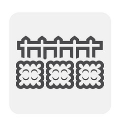 grass fence icon vector image