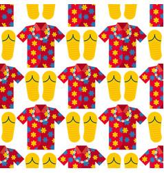 hawaii t-shirt summer clothe and beach vector image