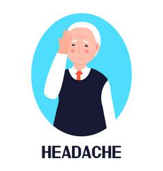 Headache icon flu cold symptom is shown vector