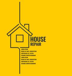 home repair original poster in a flat linear vector image