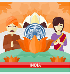 india travelling banner indian landmarks vector image