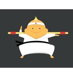Karate fighter vector