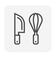 knife icon black vector image