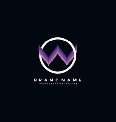 Letter w colorful logo design vector
