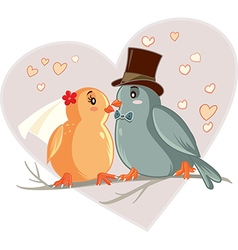 Love Birds Cartoon vector