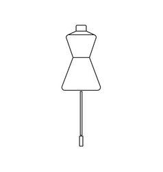 mannequin line icon for web mobile infographics vector image