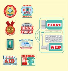 medical emblem vintage tag vector image