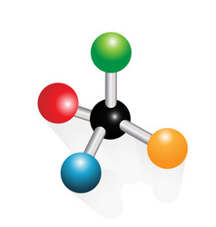methane molecule icon vector image
