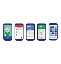 mobile apps user interface with material design vector image