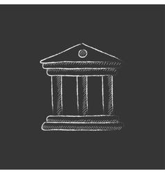 Museum drawn in chalk icon vector