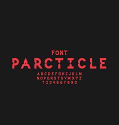 Particle font alphabet vector