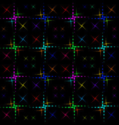 pattern of the color crosses vector image