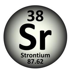 periodic table element strontium icon vector image