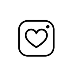 photo camera icon with heart hipster photo icon vector image