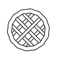 Pie linear icon vector