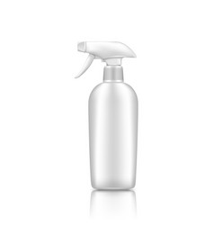 Plastic spray pistol cosmetic bottle mockup vector