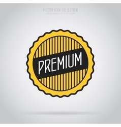 Premium quality isolated badge or label vector image