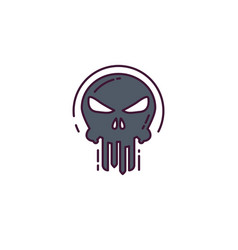 punisher skull logo vector image