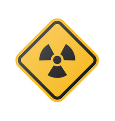 radiation hazard sign glossy vector image