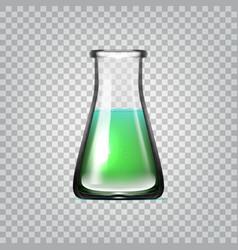 realistic chemical laboratory glassware or beaker vector image