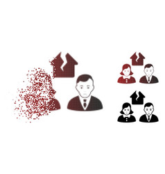 Sadly damaged pixelated halftone divorce people vector