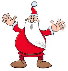 santa claus christmas holiday character vector image