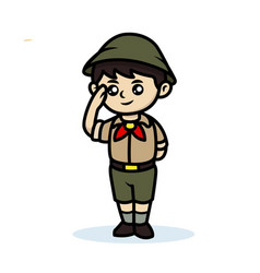Scout boy vector